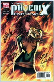 X-Men Phoenix Endsong #1 Variant Dynamic Forces Signed Stan Lee x3 DF COA Marvel comic book